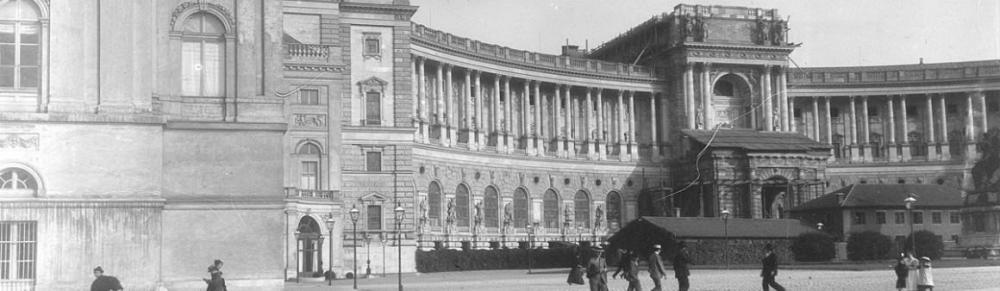 Außenansicht Neue Burg, Wien, 1901, ÖNB, Bildarchiv und Grafiksammlung
