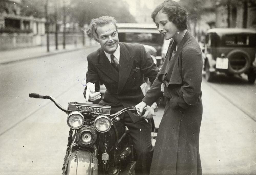 Hedy Kiesler mit dem Schauspielerkollegen Fred Döderlein