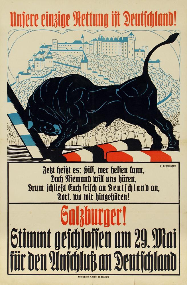 """""""Unsere einzige Rettung ist Deutschland"""", Plakat"""