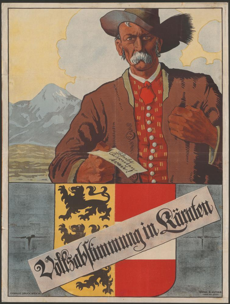 """""""Bleibt Kärnten treu! Volksabstimmung in Kärnten"""", Plakat"""