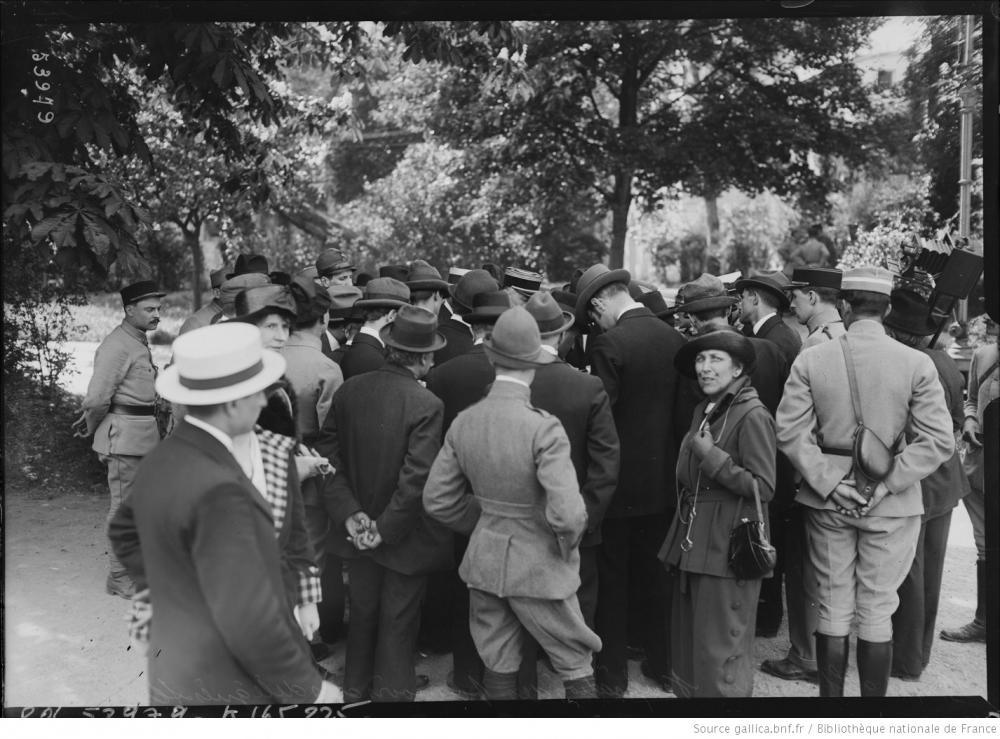 Österreichische Deligierte im Pavillon Henri IV, 19.05.1919