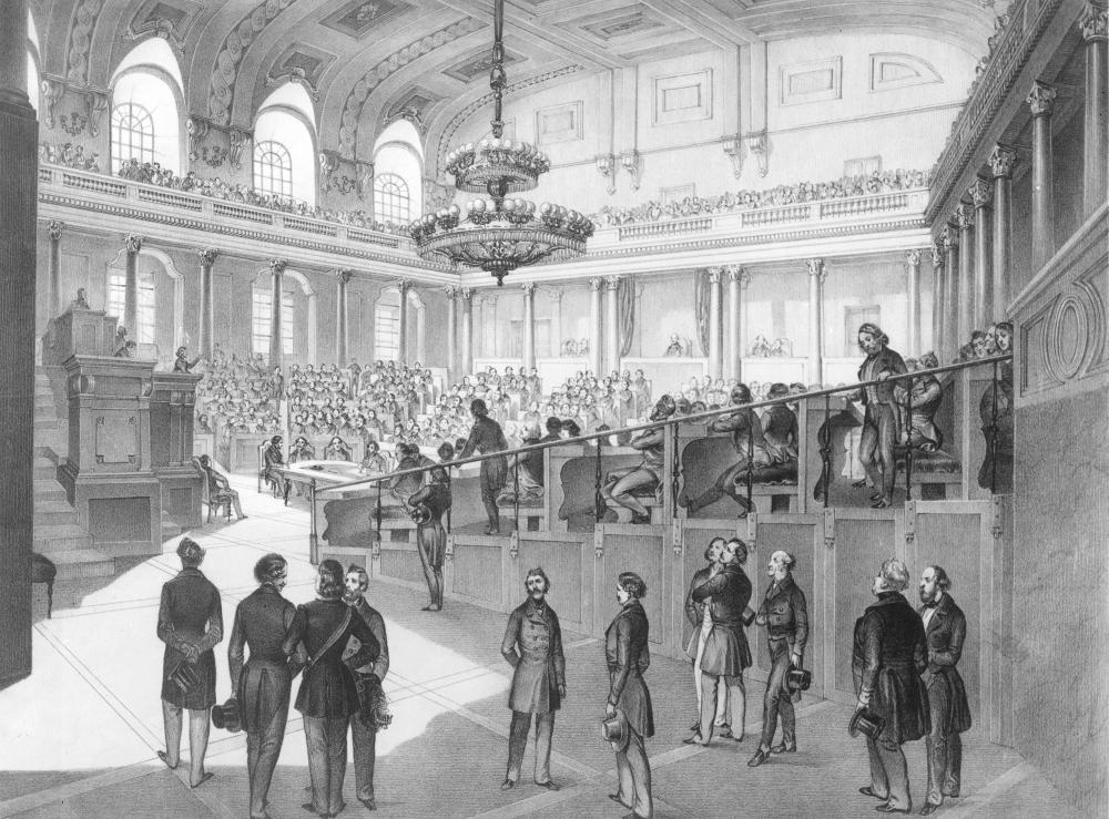 Vorbereitende Sitzung des Reichstags noch in Wien, vor seiner Verlegung nach Kremsier/Kroměřiž