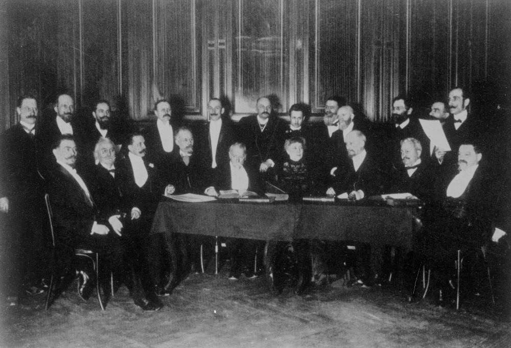 Bertha von Suttner auf der Triple-Allianz-Konferenz in Wien, 5.5.1907
